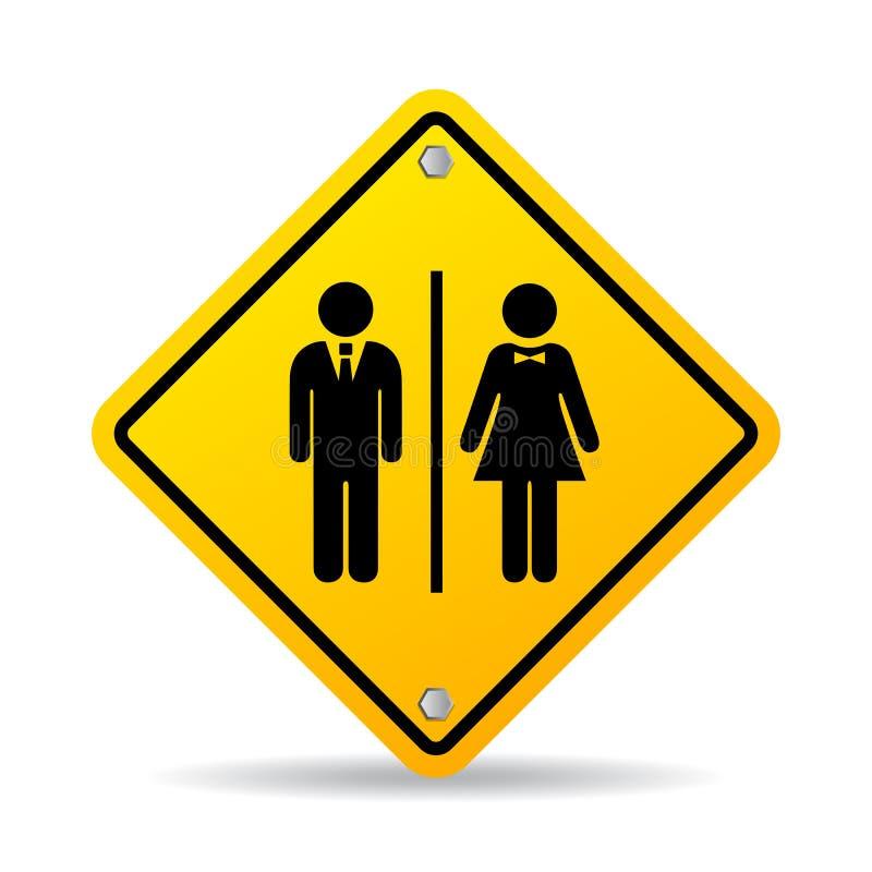 Για άνδρες και για γυναίκες σημάδι πορτών χώρων ανάπαυσης διανυσματικό διανυσματική απεικόνιση