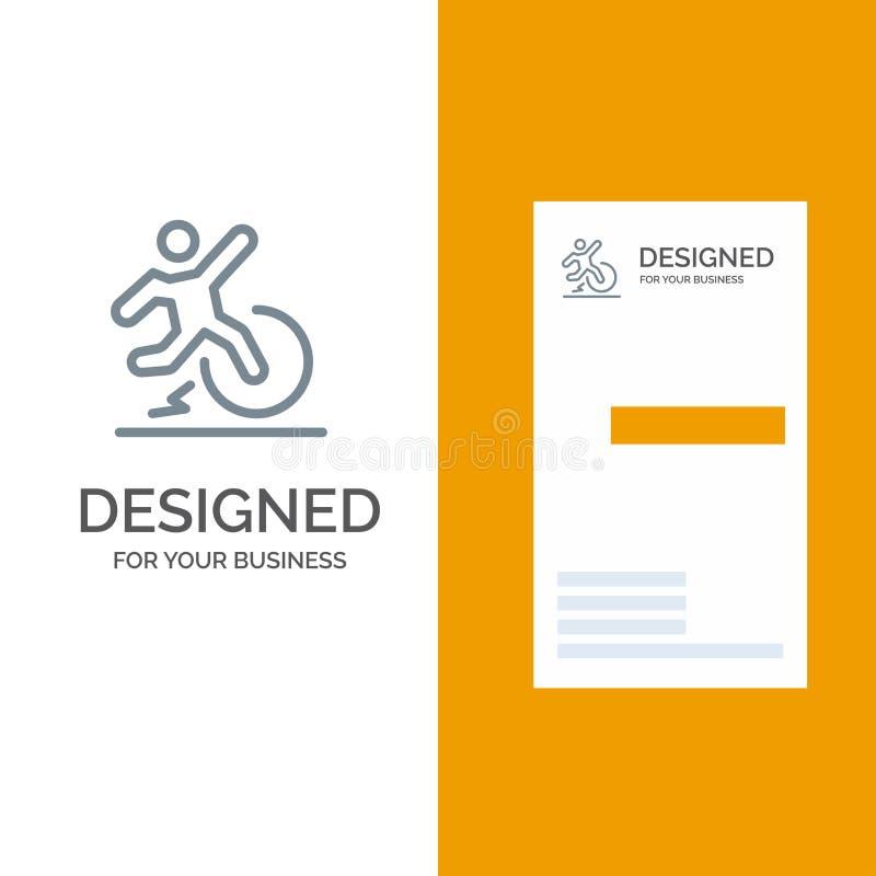 Για επιχειρήσεις, αλλαγή, άνεση, διαφυγή, αφήστε γκρι σχέδιο λογότυπου και πρότυπο επαγγελματικής κάρτας απεικόνιση αποθεμάτων