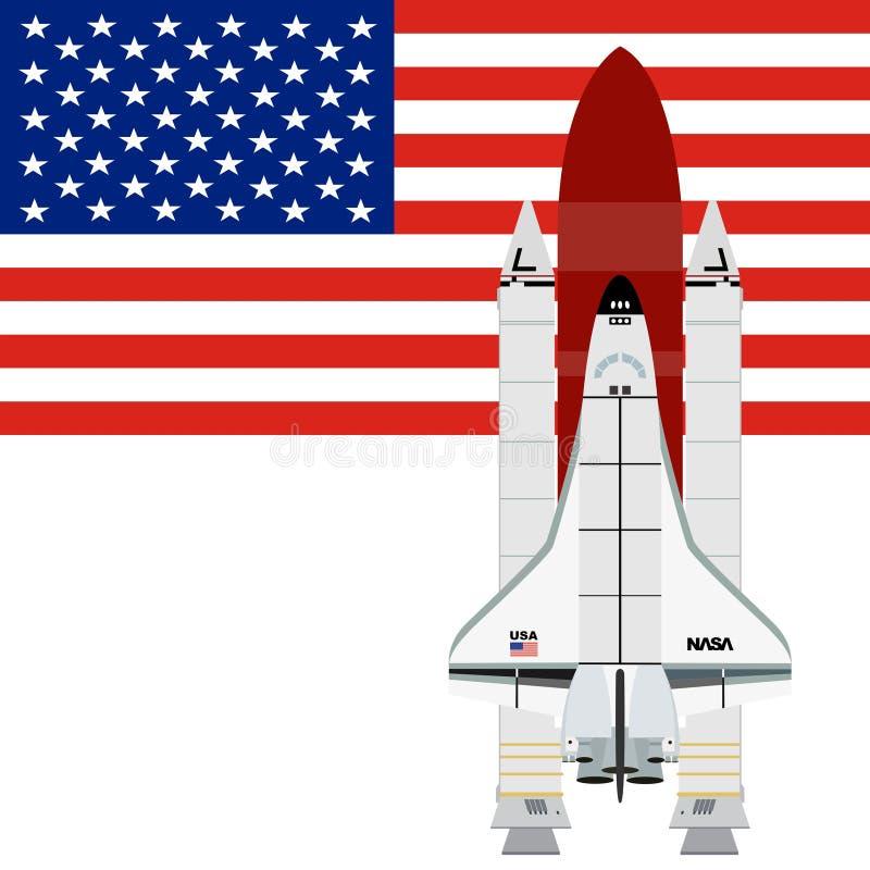 Για πολλές χρήσεις αεροδιαστημικό διαστημικό λεωφορείο συστημάτων ελεύθερη απεικόνιση δικαιώματος