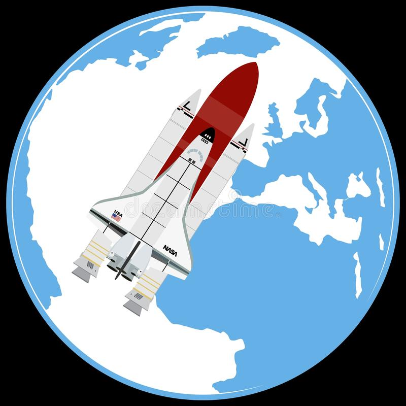 Για πολλές χρήσεις αεροδιαστημικό διαστημικό λεωφορείο συστημάτων απεικόνιση αποθεμάτων