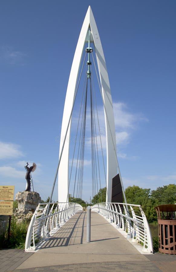 Για τους πεζούς γέφυρα στο Wichita Κάνσας στοκ φωτογραφία με δικαίωμα ελεύθερης χρήσης