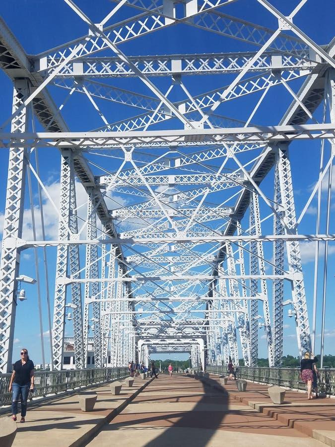 Για τους πεζούς γέφυρα του John Siegenthaler στοκ φωτογραφία