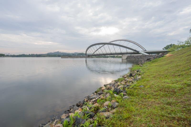Για τους πεζούς γέφυρα, Putrajaya στοκ εικόνα με δικαίωμα ελεύθερης χρήσης