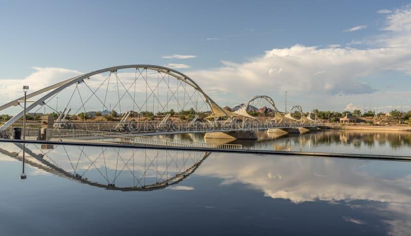 Για τους πεζούς γέφυρα Tempe στοκ εικόνα με δικαίωμα ελεύθερης χρήσης