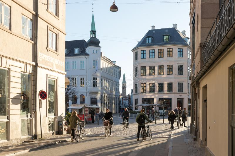 Για τους πεζούς οδός της Κοπεγχάγης στοκ εικόνα