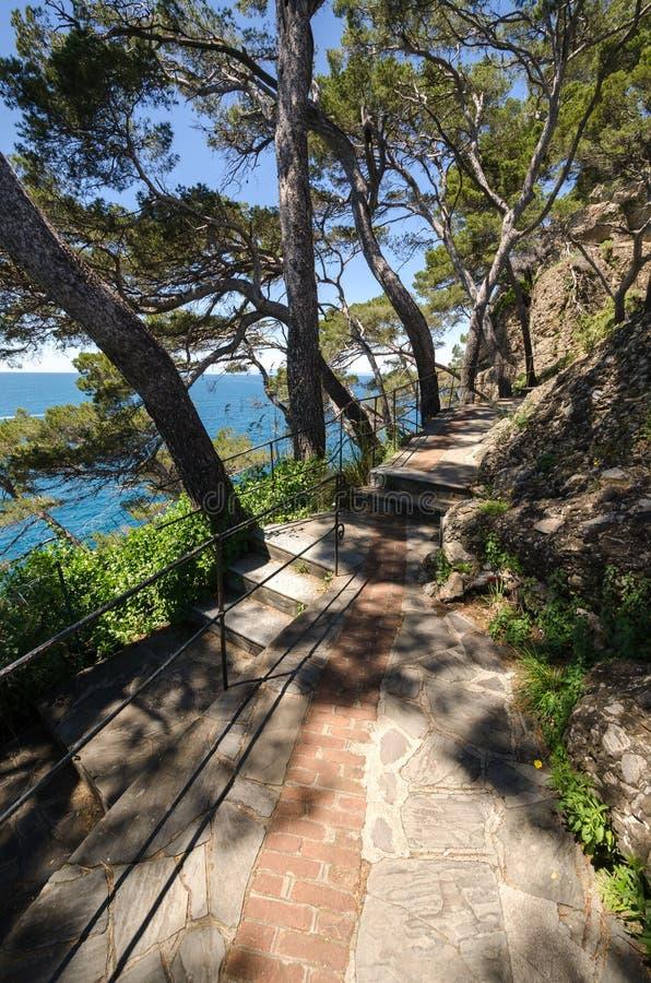 Για τους πεζούς οδός σε Portofino στοκ εικόνες