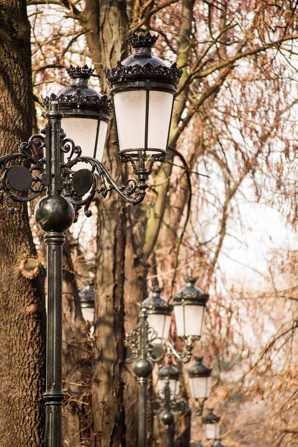 Για τους πεζούς φωτισμός οδών στοκ εικόνα