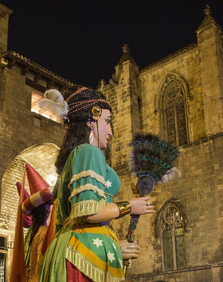 Γιγαντιαία πολιτιστική εκδήλωση Καταλωνία αριθμών στοκ εικόνες