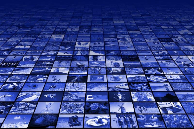 Γιγαντιαίες της μεγάλης οθόνης βίντεο και εικόνα πολυμέσων στοκ εικόνες