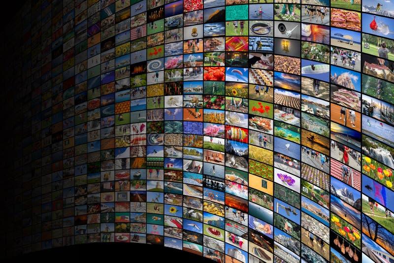 Γιγαντιαίες της μεγάλης οθόνης βίντεο και εικόνα πολυμέσων στοκ φωτογραφία με δικαίωμα ελεύθερης χρήσης