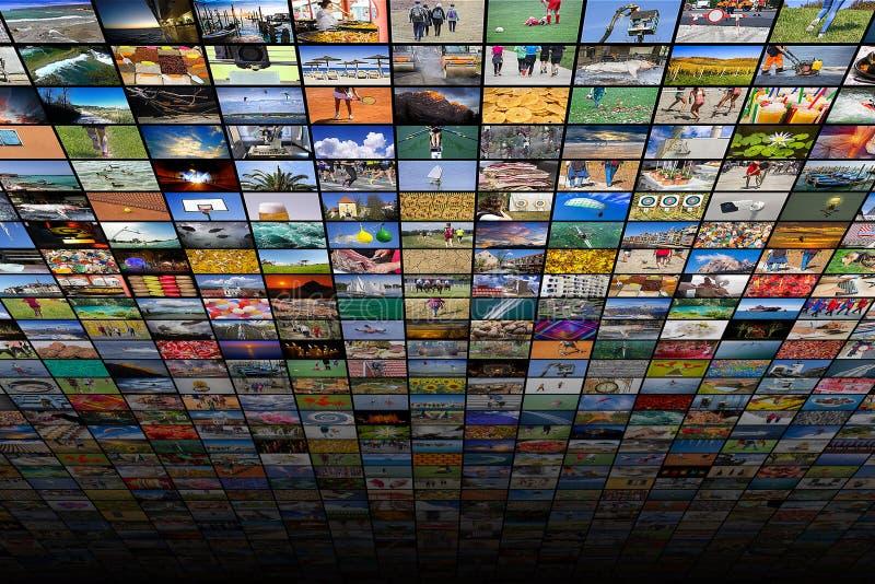 Γιγαντιαίες της μεγάλης οθόνης βίντεο και εικόνα πολυμέσων στοκ φωτογραφίες με δικαίωμα ελεύθερης χρήσης