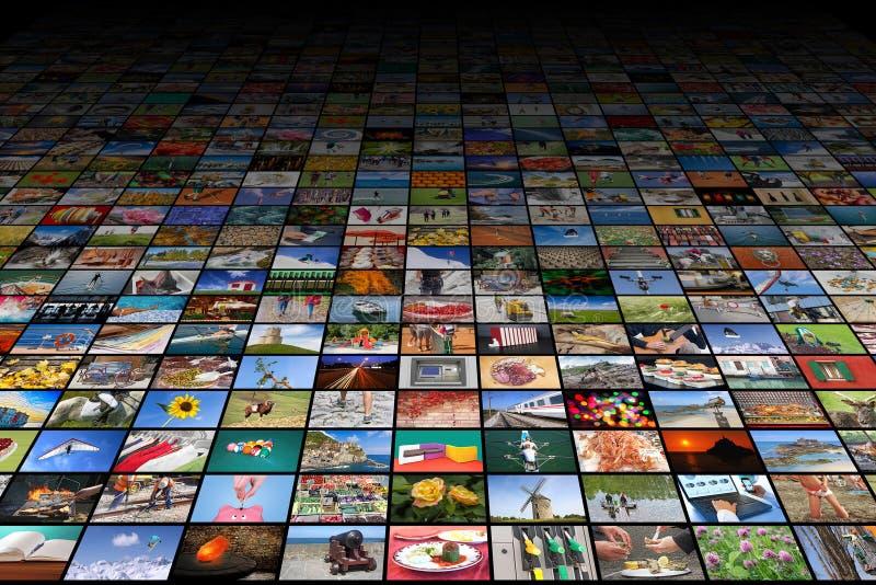 Γιγαντιαίες της μεγάλης οθόνης βίντεο και εικόνα πολυμέσων στοκ εικόνα με δικαίωμα ελεύθερης χρήσης