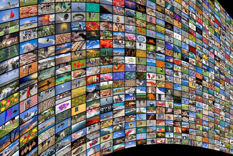 Γιγαντιαίες της μεγάλης οθόνης βίντεο και εικόνα πολυμέσων στοκ φωτογραφία