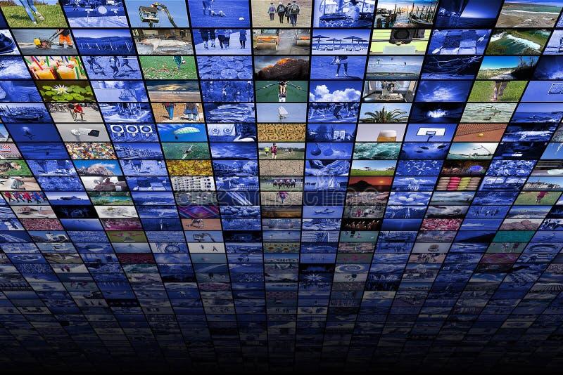 Γιγαντιαίες της μεγάλης οθόνης βίντεο και εικόνα πολυμέσων στοκ φωτογραφίες
