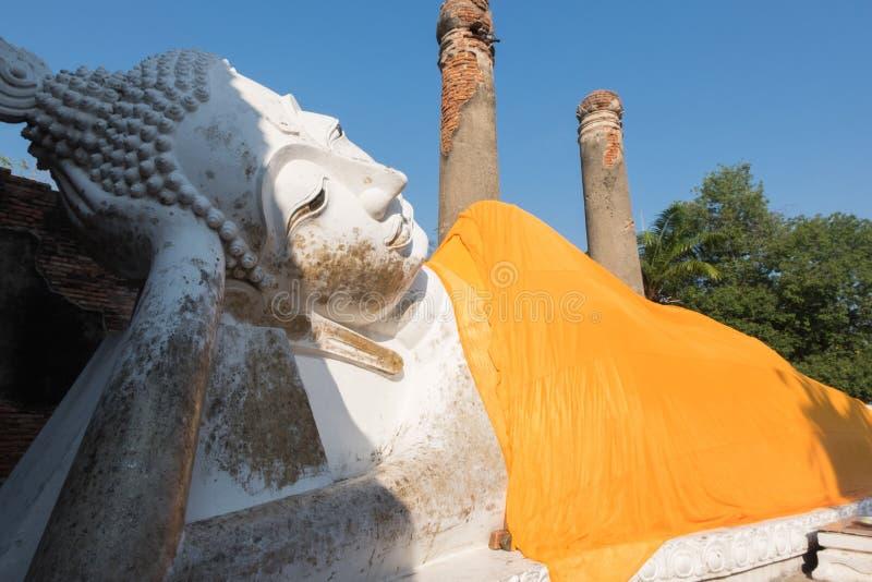 Γιγαντιαίο άγαλμα ξαπλώματος του Βούδα σε Wat Yai Chai Mongkhon, το hist στοκ εικόνα με δικαίωμα ελεύθερης χρήσης