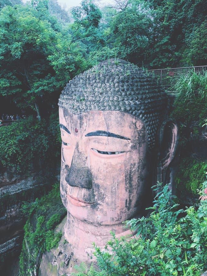 Γιγαντιαίο άγαλμα του Βούδα Leshan στοκ φωτογραφία με δικαίωμα ελεύθερης χρήσης