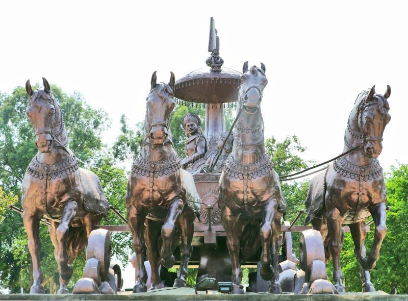 Γιγαντιαίο άρμα krishna-Arjuna στοκ εικόνα
