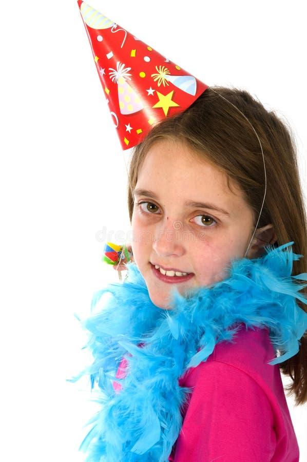 γιορτάζοντας κορίτσι στοκ φωτογραφίες