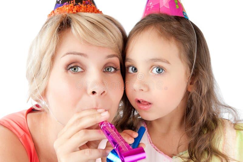 γιορτάζοντας μητέρα κορών στοκ εικόνες