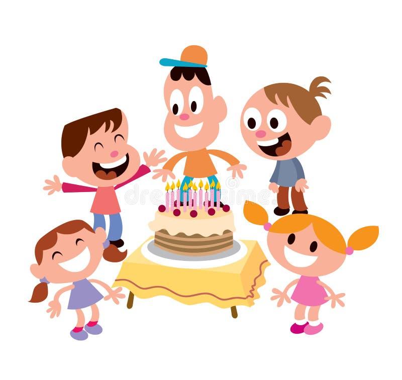 Γιορτή γενεθλίων κατσικιών διανυσματική απεικόνιση