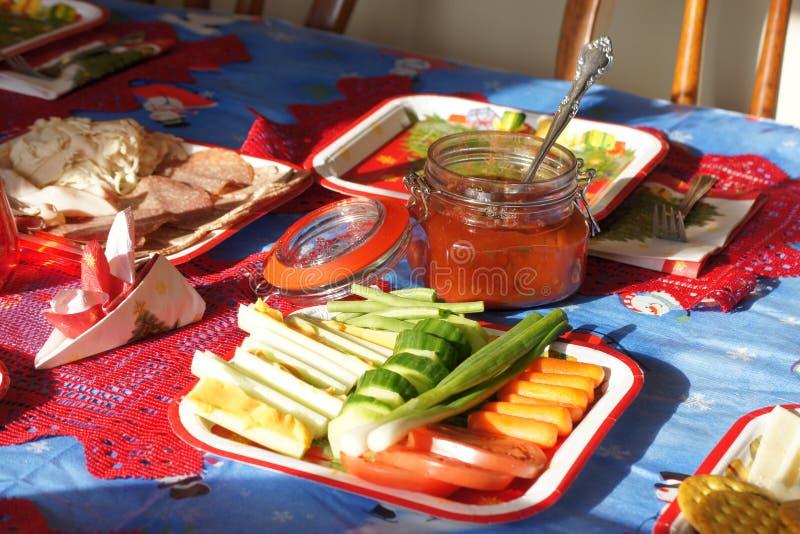 Γιορτή μεσημεριανού γεύματος Χριστουγέννων στοκ φωτογραφίες