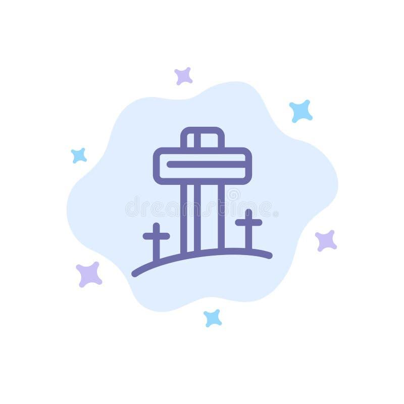 Γιορτή, χριστιανικό, σταυρό, μπλε πασχαλινό εικονίδιο σε αφηρημένο φόντο σύννεφου ελεύθερη απεικόνιση δικαιώματος