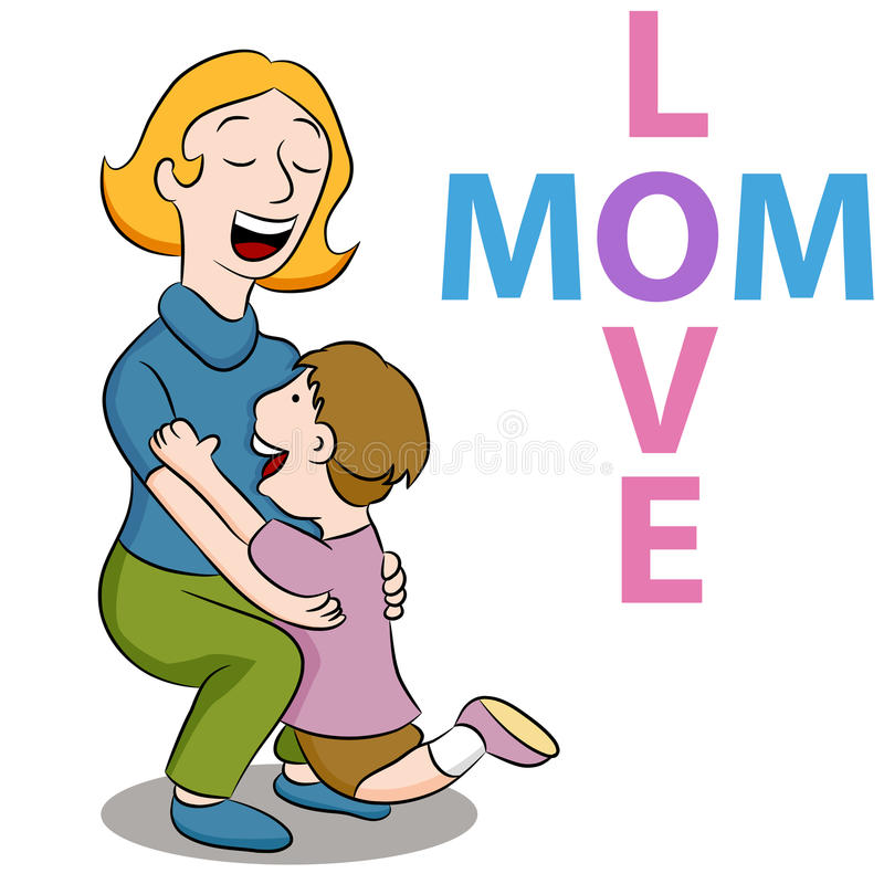 γιος αγάπης mom απεικόνιση αποθεμάτων