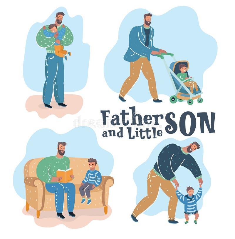 Γιος και πατέρας απεικόνιση αποθεμάτων