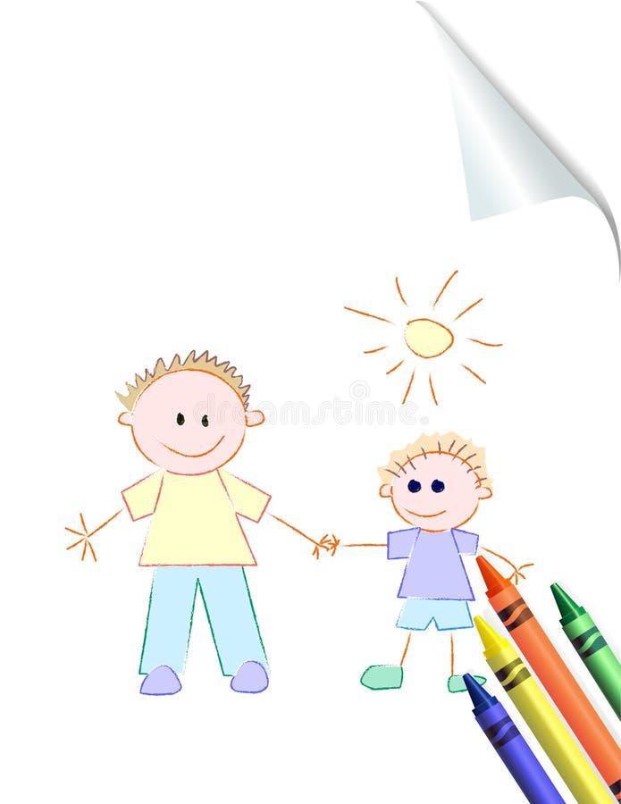γιος πατέρων s σχεδίων παι&delt ελεύθερη απεικόνιση δικαιώματος