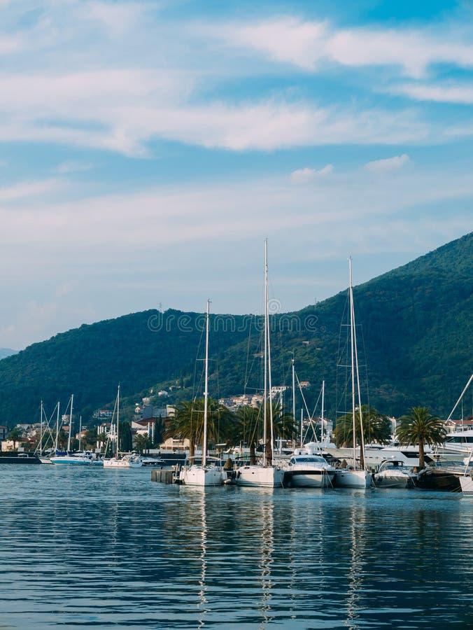 Γιοτ Πόρτο Μαυροβούνιο Περιοχή ελίτ Tivat στοκ φωτογραφία
