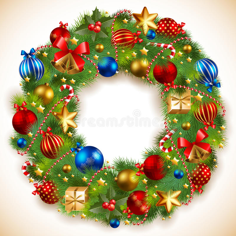γιρλάντα Χριστουγέννων απεικόνιση αποθεμάτων