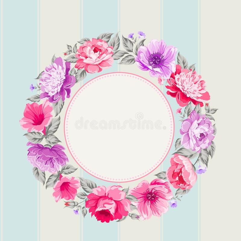 Γιρλάντα λουλουδιών διανυσματική απεικόνιση