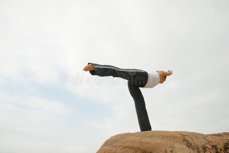 γιόγκα γυμναζομένων στοκ φωτογραφία