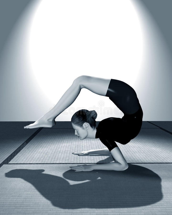 γιόγκα γυναικών άσκησης στοκ εικόνα με δικαίωμα ελεύθερης χρήσης