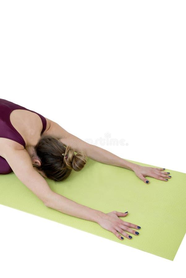 γιόγκα γυναικών άσκησης στοκ φωτογραφία