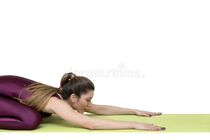 γιόγκα γυναικών άσκησης στοκ φωτογραφίες με δικαίωμα ελεύθερης χρήσης