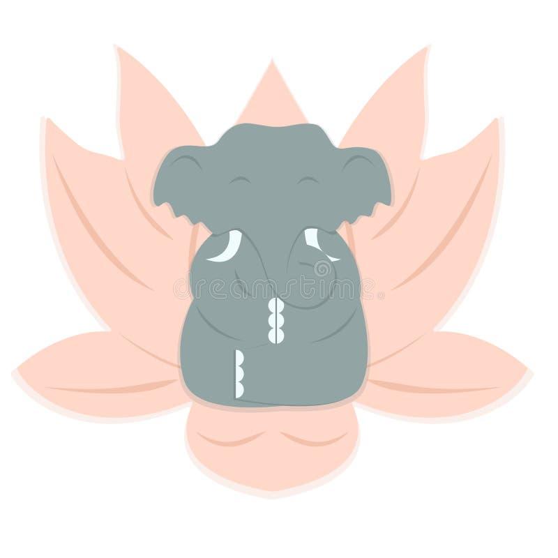 Γιόγκα ελεφάντων διανυσματική απεικόνιση