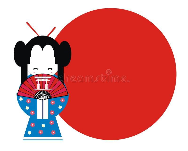 γκέισα Ιαπωνία διανυσματική απεικόνιση