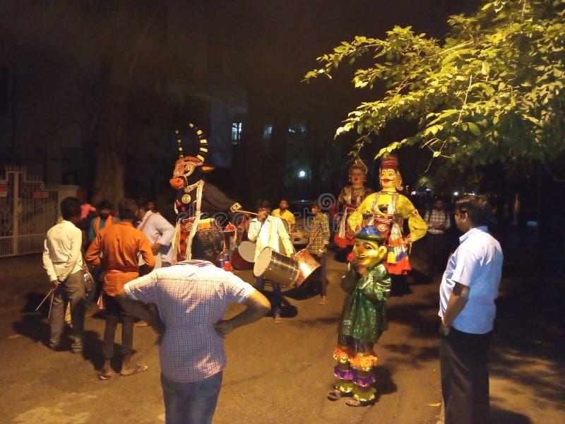 Γκαναπάθι βισαρική λιτανεία μπανγκαλόρ ιναγάρ στοκ φωτογραφία