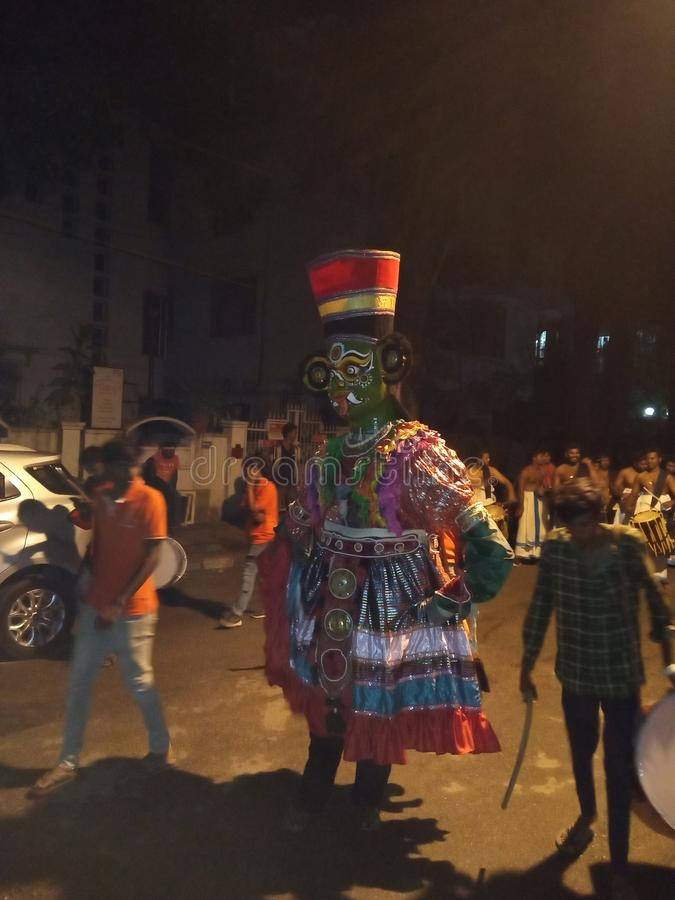 Γκαναπάθι βισαρική λιτανεία μπανγκαλόρ ιναγάρ στοκ φωτογραφίες