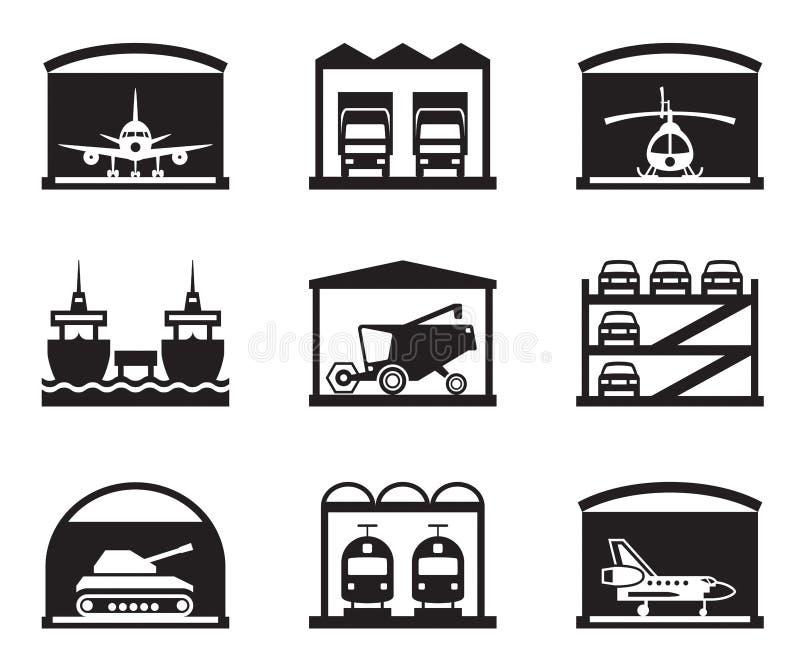Γκαράζ μεταφορών απεικόνιση αποθεμάτων
