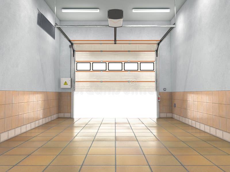 Γκαράζ με την κυλώντας πύλη απεικόνιση αποθεμάτων