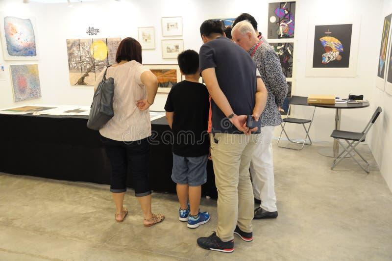 Γκαλερί τέχνης στην προσιτή έκθεση 2017 τέχνης της Σιγκαπούρης στοκ φωτογραφίες