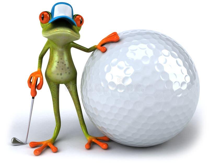 γκολφ βατράχων διανυσματική απεικόνιση