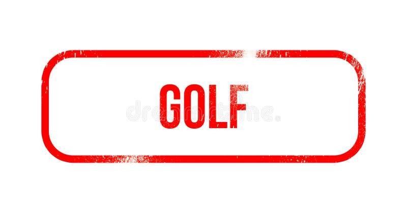 Γκολφ - κόκκινο λάστιχο grunge, γραμματόσημο απεικόνιση αποθεμάτων