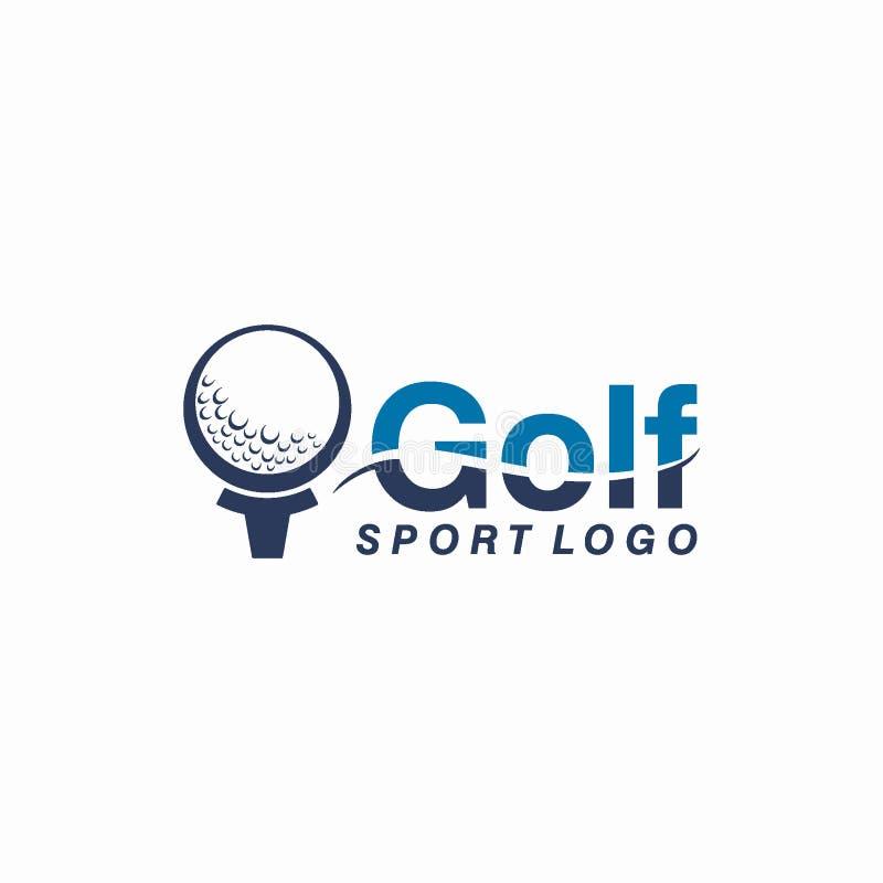 Γκολφ λεσχών ή έννοια σχεδίου αθλητικών λογότυπων ελεύθερη απεικόνιση δικαιώματος