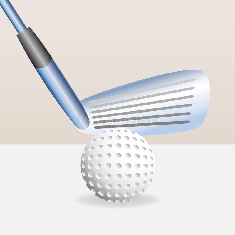 γκολφ λεσχών σφαιρών ελεύθερη απεικόνιση δικαιώματος