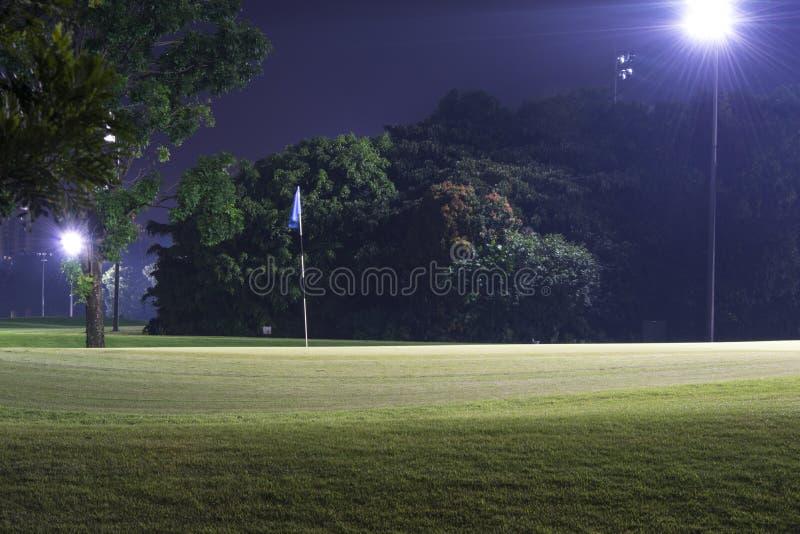 Γκολφ νύχτας στοκ φωτογραφίες με δικαίωμα ελεύθερης χρήσης