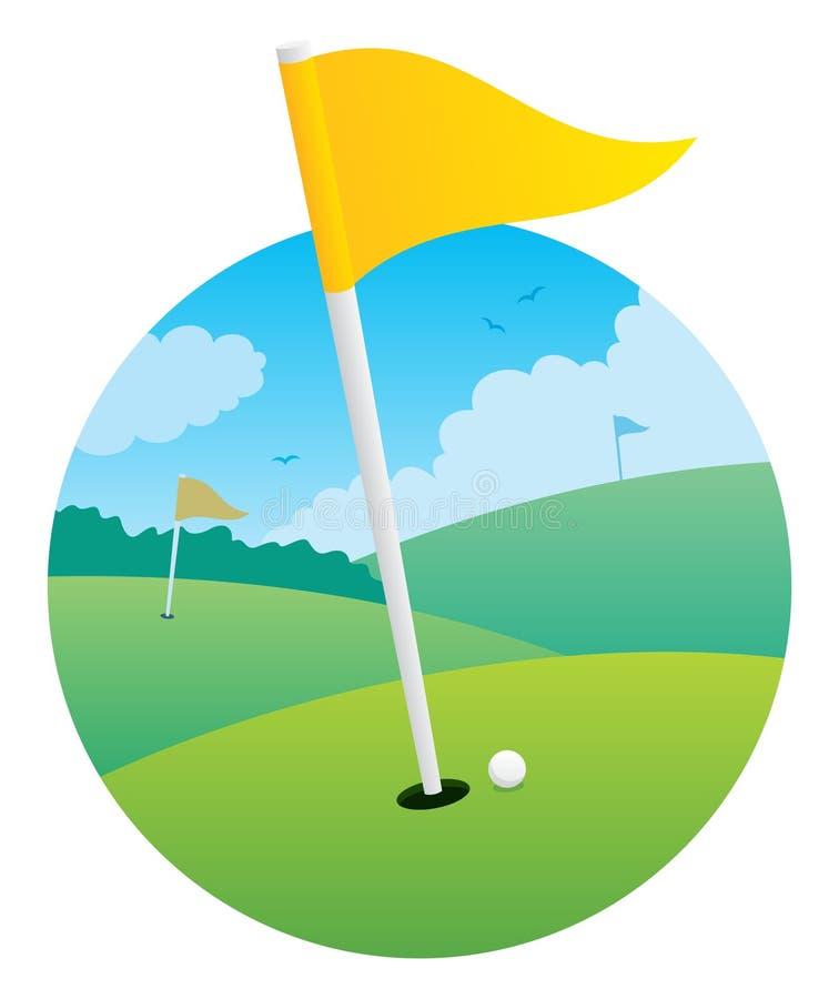 γκολφ σημαιών ελεύθερη απεικόνιση δικαιώματος