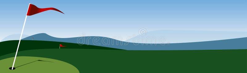γκολφ σημαιών διανυσματική απεικόνιση